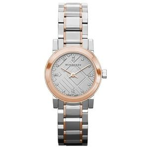 Burberry Rose Gold & Silver Bu9214 Heritage Watch